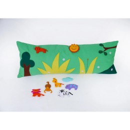Wild Animal Long Cushion Cover With Pop-Ups