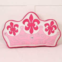 Simply Enchanted - White Collection Crown Shaped Cush