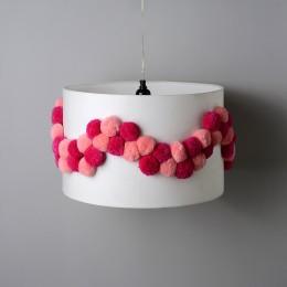 Pink Pompom Pendant Light