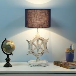 Ship Wheel Table Lamp