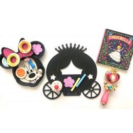 Chalkboard + WhiteBoard -Princess Cart