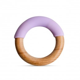 Little Rawr Wood + Silicone Simple Ring -Purple