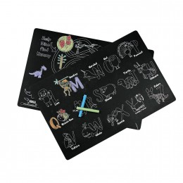 Reusable Chalk Board Wipe and Clean Drawing Table Mats  -Set of 3