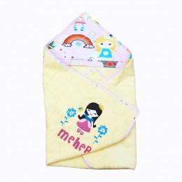 Hooded Towel- Princess Yellow