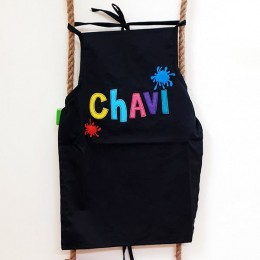 Black Cotton Apron Set