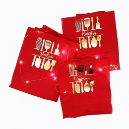 Cutlery Gold Apron Set