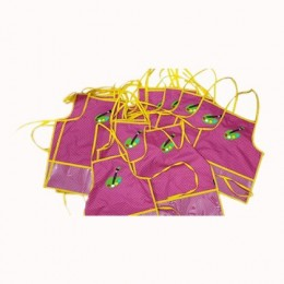 Dark Pink Dots Waterproof Brush Apron Set