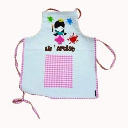 Princess Light Blue Art Apron Set