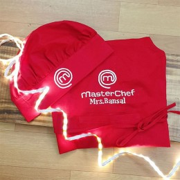 Red Master Cook Apron Set