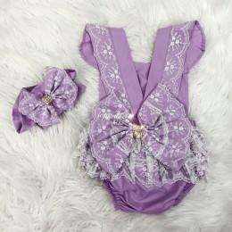 Dreamy Lush Romper & Headband - Violet