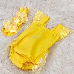 Dreamy Lush Romper & Headband - Yellow