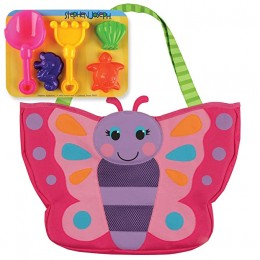 Beach Tote with Sand Toy Play Set - Butterfly