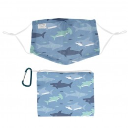 Adjustable Mask With Zipper Pouch Shark