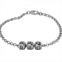 Sterling Silver Bracelet BRO with Oxidised Dice Cubes