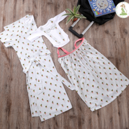 Summer Cactus Nursing Gown & Cover Set