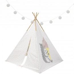 Teepee Tent - Squirrel and Rose Pink Dot