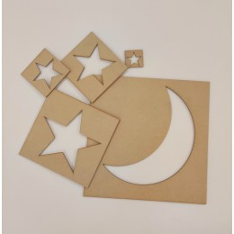 Stars and Moon Stencil Set