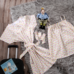 Tulip Garden Nursing Gown & Cover Set