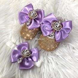 Cinderella Shoes & Headband - Violet & Gold