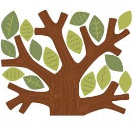 Wallies Room Decor Sticker Fun Family Tree