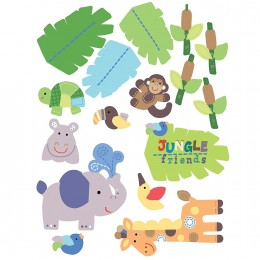 Wallies Room Decor Sticker Jungle Friends