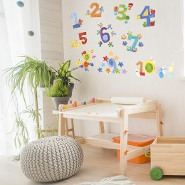 Wallies Room Decor Sticker Counting Numbers