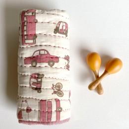 Newborn Gift Set - Organic Gaari Receiving Blanket With Maracas