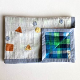 Organic Gift Set - Dohar + Mustard Seed Pillow + Maracas - Dhruvtara