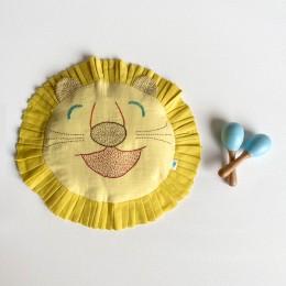 Kids Organic Gift Set - Dohar and Mustard Seed Pillow With Maracas - Zoo