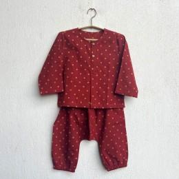 Unisex Organic Madder Raidana Print Kurta + Pants