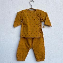Whitewater Kids Unisex Organic Raidana Print Angrakha Top with Pants