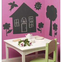 Wallies Room Decor Sticker House and Tree Mural