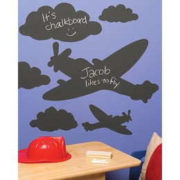 Wallies Room Decor Sticker Planes and Clouds Mural