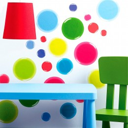 Wallies Room Decor Sticker 3D Multi Color Dot