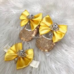 Cinderella Shoes & Headband - Yellow Gold