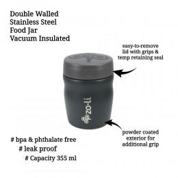 ZoLi POW DINE Stainless Steel Insulated Food Jar - Grey