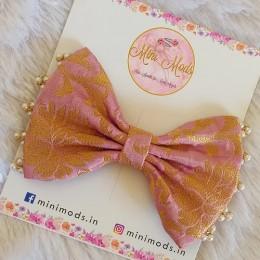 Banarasiya Bow Headband- Lavender