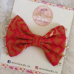 Banarasiya Bows - Red