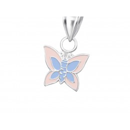 Butterfly Pendant light pink and purple
