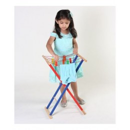 Clothes Drying Line Wooden Toy