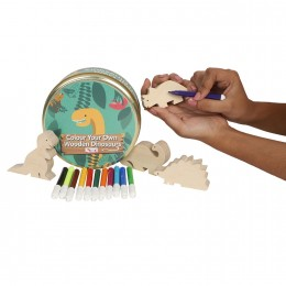Colour Your Own Wooden Dinosaurs