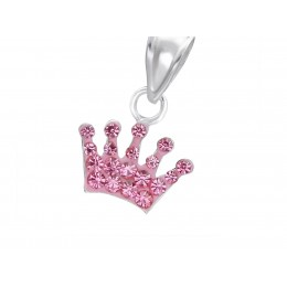 Crown  Pendant with crystals