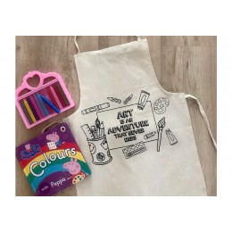 Do It Yourself Colouring Apron- Art Is An Adventure That Never Ends