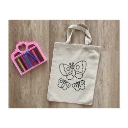 Do It Yourself Colouring Tote - Pretty Butterfly