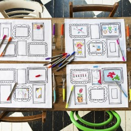 Placemat To Go - Frame Design -Set of 4