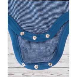 Full sleeve piccolo bodysuit blue stripped