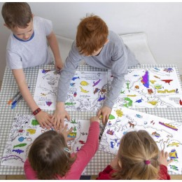 Placemat To Go - World Map -Set of 4