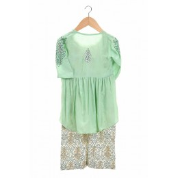Embroidered girls jumpsuit