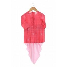 Embroidered girls dhoti set