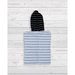 Zippy sleevless hoodie black